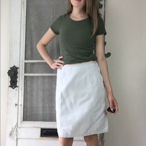 Tommy Hilfiger Tan Straight Fitted Skirt Sz. 4  H4